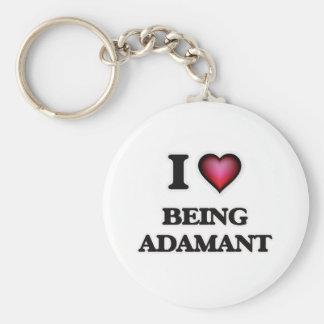 I Love Being Adamant Keychain