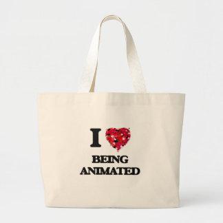 I Love Being Animated Jumbo Tote Bag