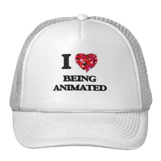 I Love Being Animated Trucker Hat