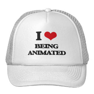 I Love Being Animated Mesh Hat