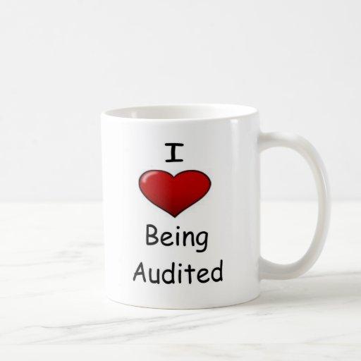 I Love Being Audited! Basic White Mug
