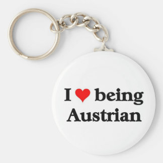 I love being Austrian Keychain