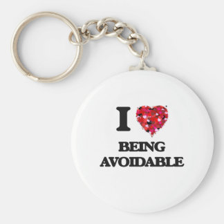 I Love Being Avoidable Basic Round Button Keychain