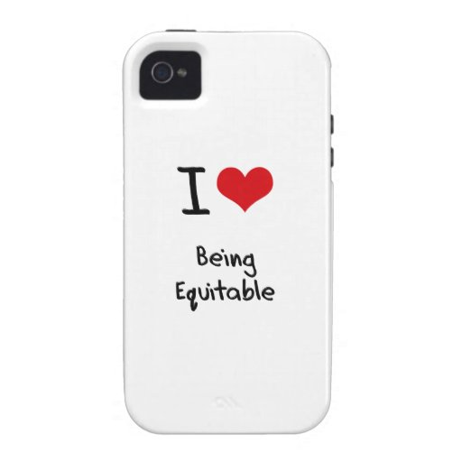 I love Being Equitable iPhone 4/4S Cover