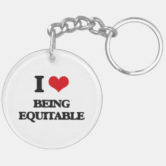 I love Being Equitable Acrylic Key Chains