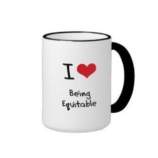 I love Being Equitable Mugs