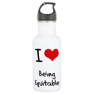 I love Being Equitable 18oz Water Bottle