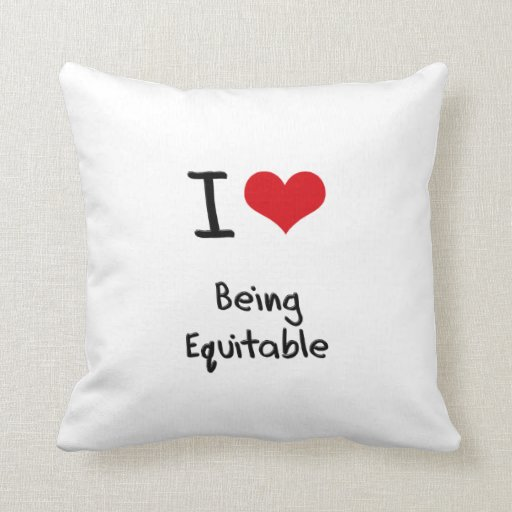 I love Being Equitable Pillow