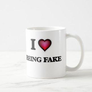 I Love Being Fake Coffee Mug