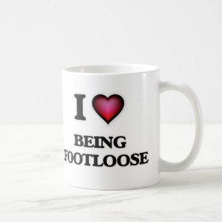 I Love Being Footloose Coffee Mug