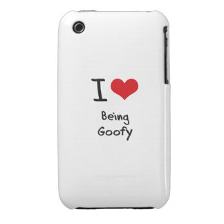 I Love Being Goofy iPhone 3 Case