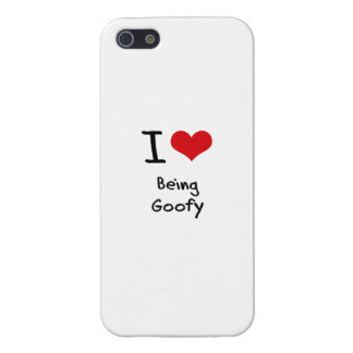 I Love Being Goofy iPhone 5/5S Covers
