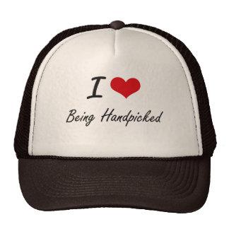 I Love Being Handpicked Artistic Design Trucker Hat