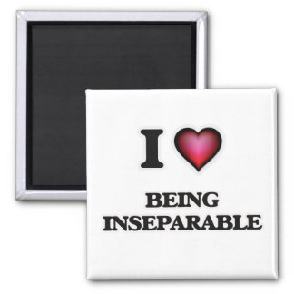 i lOVE bEING iNSEPARABLE Square Magnet