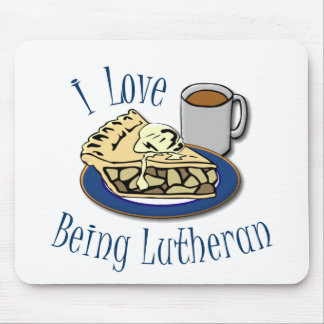 I Love being Lutheran Funny Church Mouse Pad