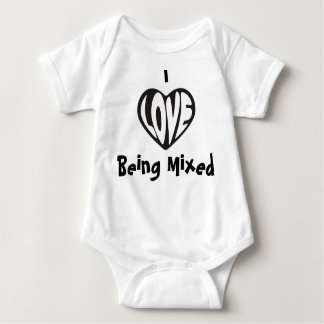I love Being Mixed Baby Vest Baby Bodysuit