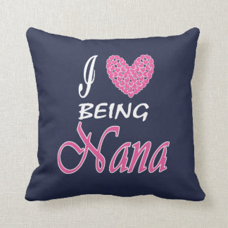 I love being NaNa Throw Pillow