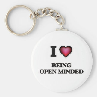 I Love Being Open-Minded Keychain