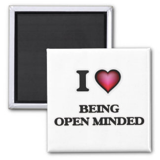 I Love Being Open-Minded Magnet