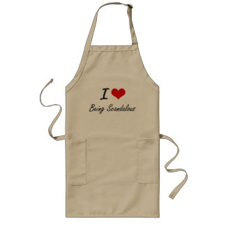 I Love Being Scandalous Artistic Design Long Apron