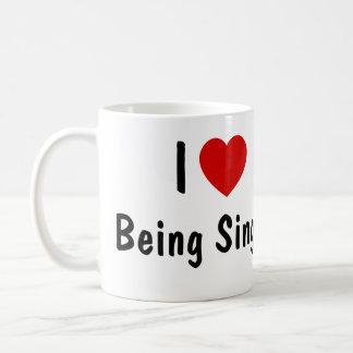 I Love Being Single Coffee Mug