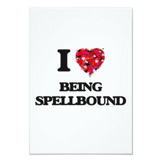 "I love Being Spellbound 3.5"" X 5"" Invitation Card"