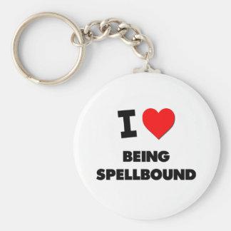 I love Being Spellbound Key Chain