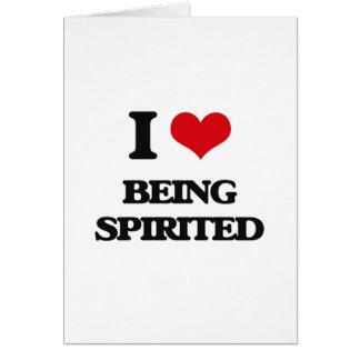 I love Being Spirited Greeting Card