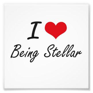 I love Being Stellar Artistic Design Photograph