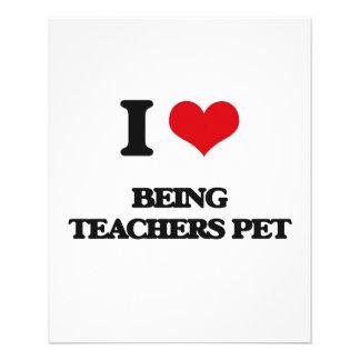 I love Being Teachers Pet Flyers