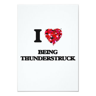 "I love Being Thunderstruck 3.5"" X 5"" Invitation Card"