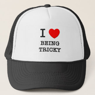 I Love Being Tricky Trucker Hat