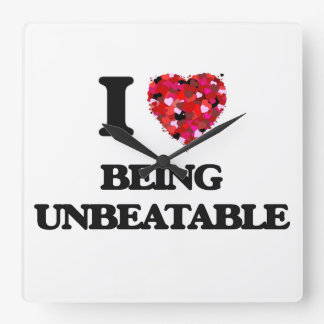I love Being Unbeatable Wall Clock
