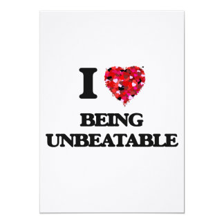 "I love Being Unbeatable 5"" X 7"" Invitation Card"