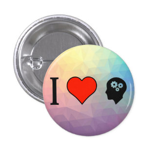 I Love Being With Smart People 1 Inch Round Button