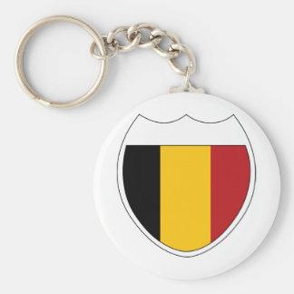 I Love Belgium Basic Round Button Keychain