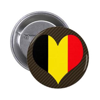 I Love Belgium 2 Inch Round Button