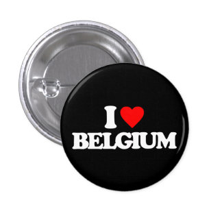 I LOVE BELGIUM 1 INCH ROUND BUTTON