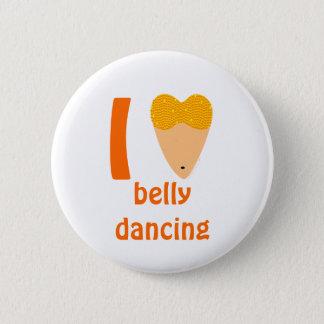 I Love Bellydancing Dancer Torso (I Heart) 2 Inch Round Button