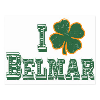 I love Belmar - St. Patrick's Day Postcard