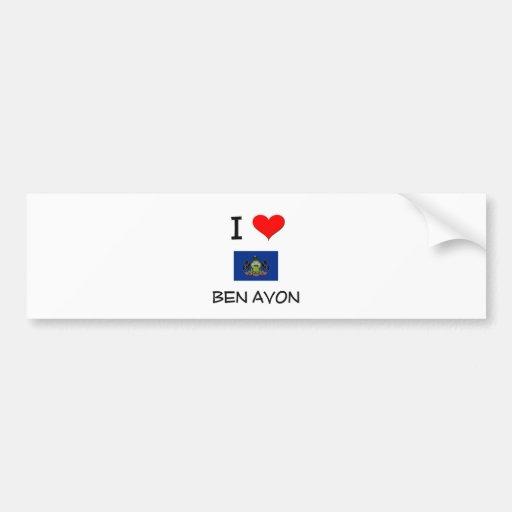 I Love Ben Avon Pennsylvania Bumper Sticker