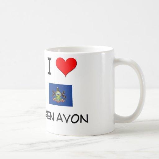 I Love Ben Avon Pennsylvania Coffee Mugs