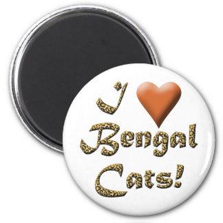 I Love Bengal Cats Magnet