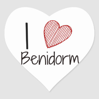 I Love Benidorm Heart Sticker