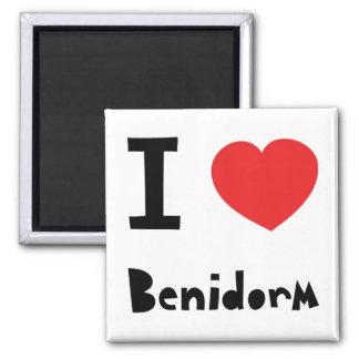 I love Benidorm Square Magnet