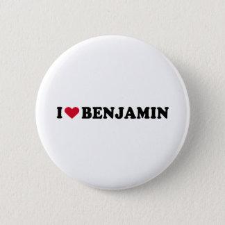 I LOVE BENJAMIN 2 INCH ROUND BUTTON
