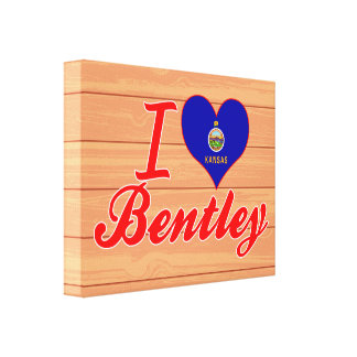 I Love Bentley, Kansas Stretched Canvas Prints