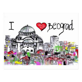 i love beograd1 postcard