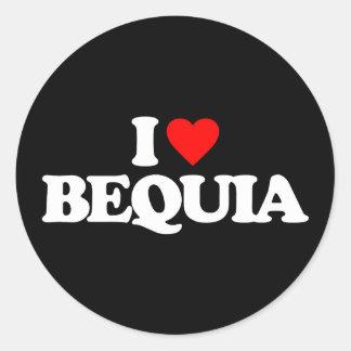 I LOVE BEQUIA CLASSIC ROUND STICKER