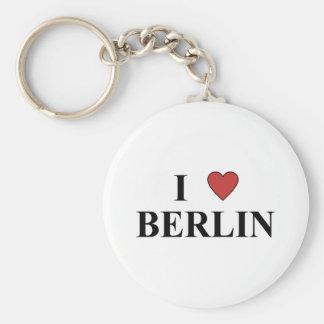 I Love Berlin Basic Round Button Keychain